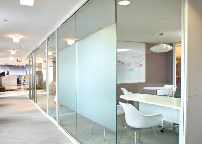 Fixed partition / aluminum / glazed / for offices